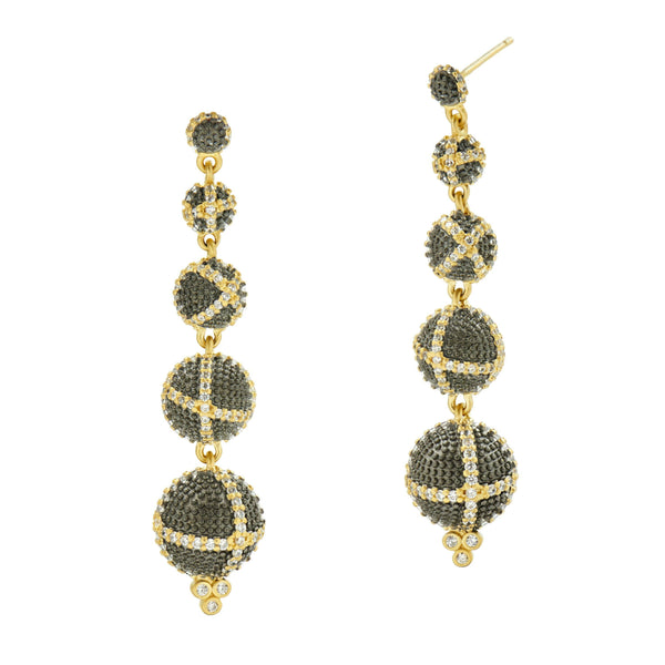 Textured Ornaments Linear Drop Earring