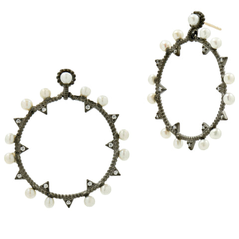 Industrial Finish Horizontal Sm. Hoop Earring