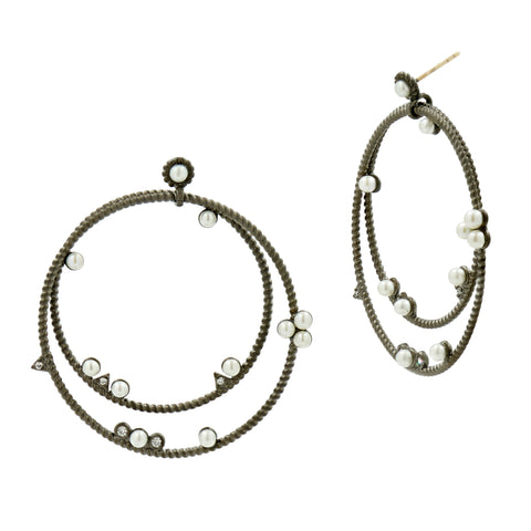 Circular Large Double Hoop Earrings