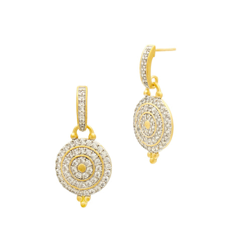 Etoile Pavé  Disc Drop Earrings