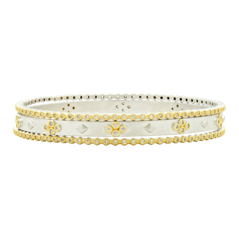 Fleur Bloom 3-Stack Slide-on Bangle Set