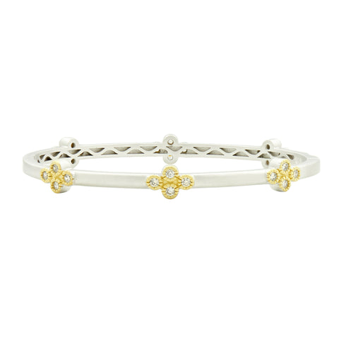 Fleur Bloom Clover Station Hinge Bangle