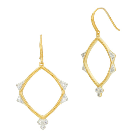Visionary Fusion Open Drop Clover Earrings - FREIDA ROTHMAN