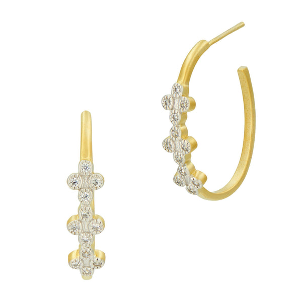 Visionary Fusion Clover Hoop Earrings - FREIDA ROTHMAN
