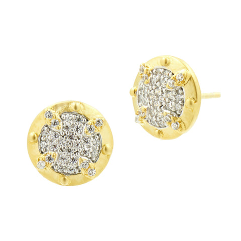 Visionary Fusion Pavé Stud Earrings - FREIDA ROTHMAN
