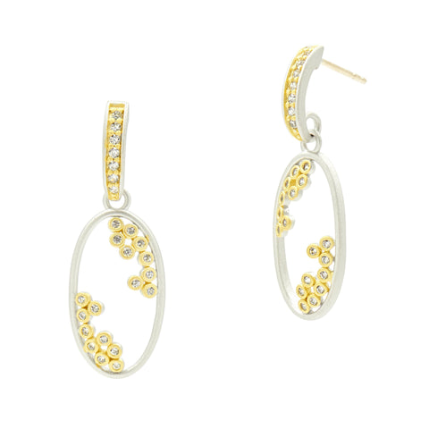 Fleur Bloom Small Open Oval Hoop Earrings