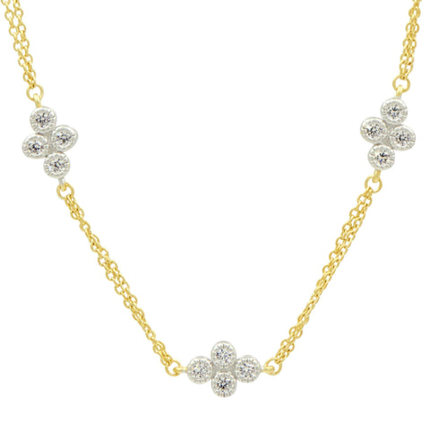 Visionary Fusion Double Strand Clover Station Necklace - FREIDA ROTHMAN