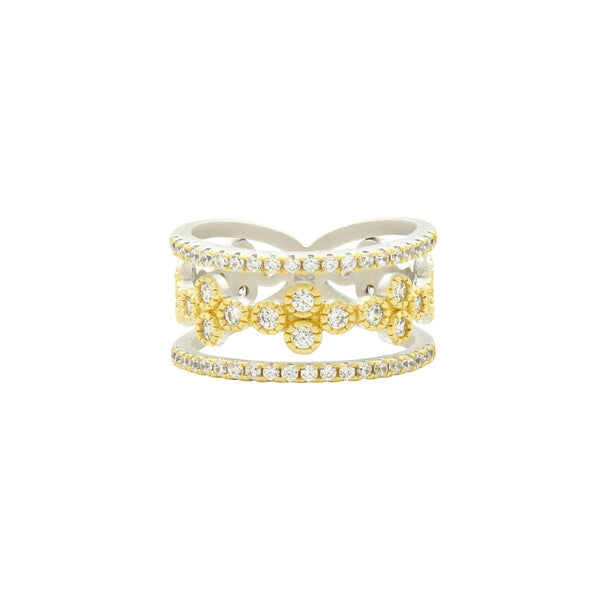 Fleur Bloom 3 Layer Clover Ring
