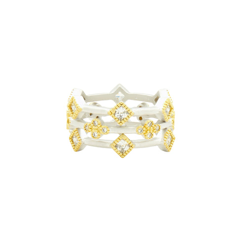 Fleur Bloom 3-Stack Ring