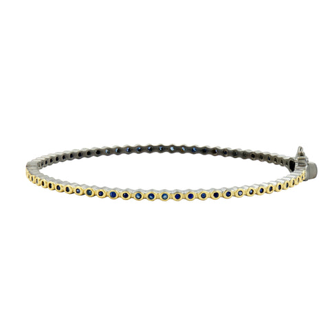 Bezel Pavé Hinge Bangle
