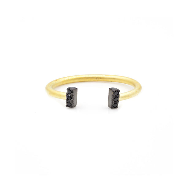 Black Stone Bar Ring