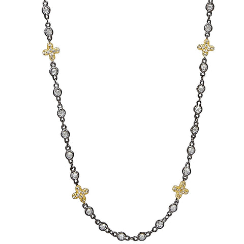 Signature Clover Stone Necklace - FREIDA ROTHMAN