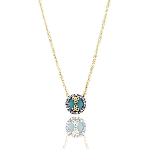 Color Theory Turquoise Pendant Necklace