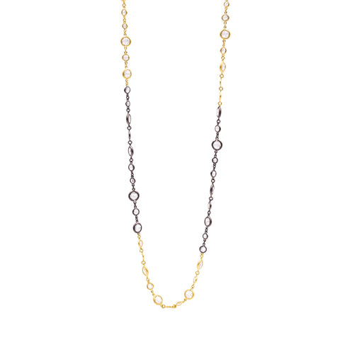 Illuminating Two-Tone Long Necklace