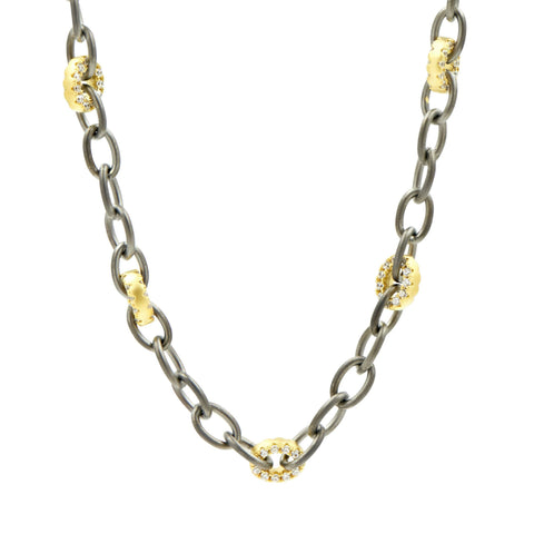 Alternating pav̩ Link Necklace - FREIDA ROTHMAN