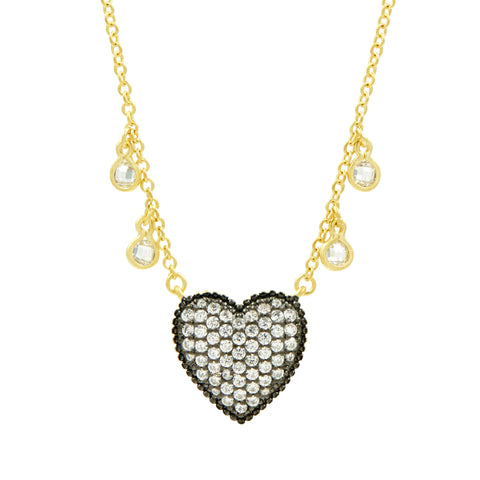 From the Heart Pavé Necklace