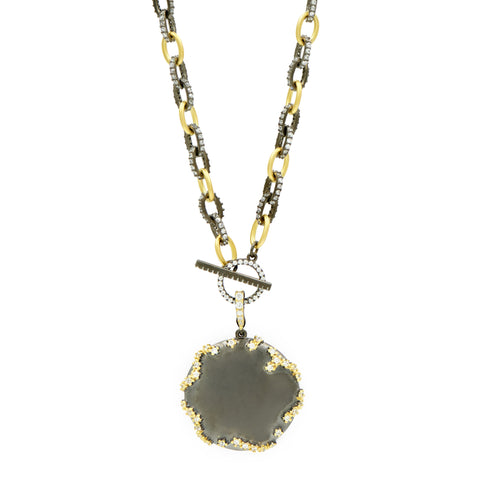 Midnight Round Statement Pendant