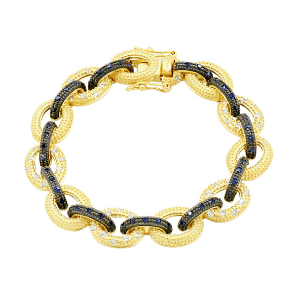 Midnight Pavé Chain Link Bracelet