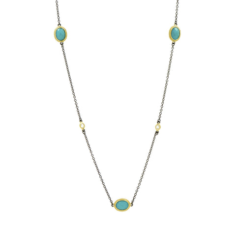 Color Theory Stone Station Necklace