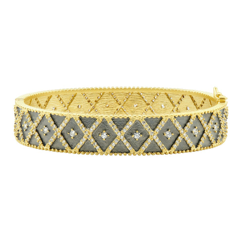 Signature Geo Stripe Hinge Bangle - FREIDA ROTHMAN