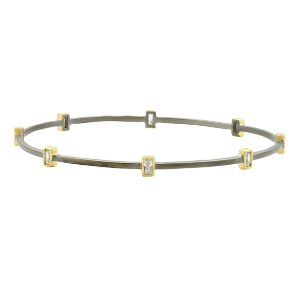 Signature Square Station Bangle - FREIDA ROTHMAN