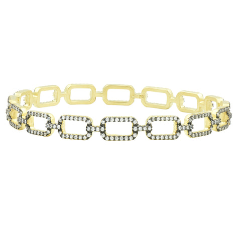 Pavé Chain Link Slide On Bangle