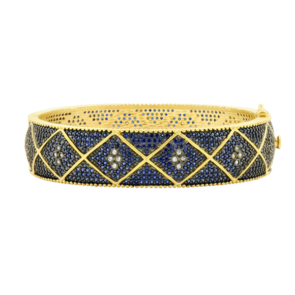 Midnight Pavé Wide Hinge Bangle