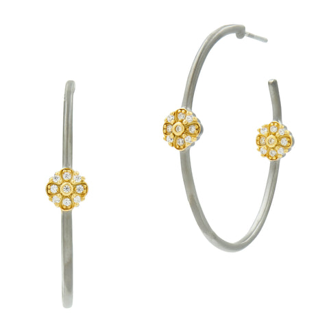 Flower Station Hoop Earrings