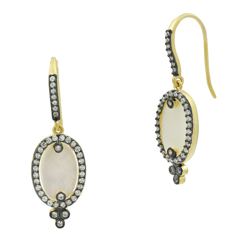 Color Theory Mother of Pearl Hook Drop Earrings