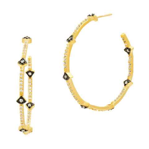 Best Selling Pavé Arrow Hoop Earrings