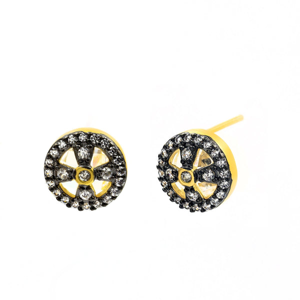 Clover Cage Stud Earrings - FREIDA ROTHMAN