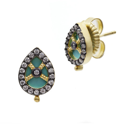 Small Teardrop Stud Earrings - FREIDA ROTHMAN