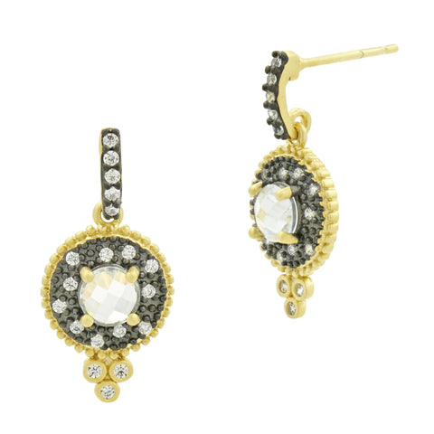 Signature Single Stone Drop Earrings