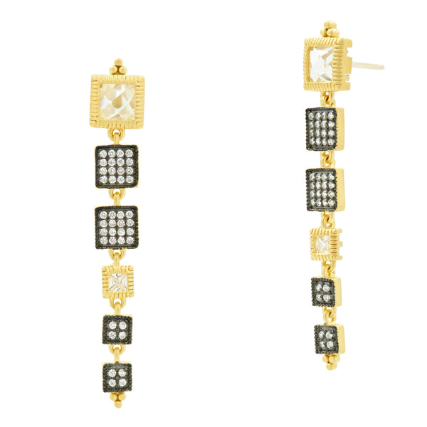 Linear Station Drop Earrings - FREIDA ROTHMAN