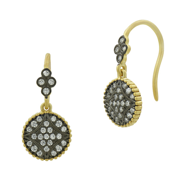 Signature Pavé Disc Hook Earrings