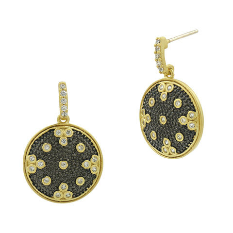 Signature Clover Disc Drop Earrings