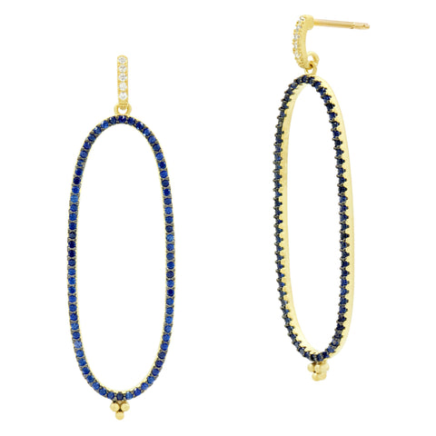 Midnight Pavé Linear Hoop Earring