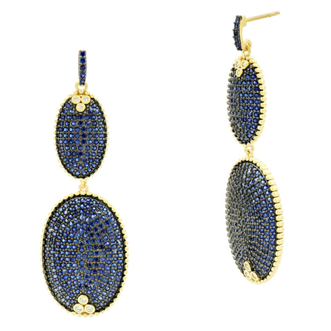 Midnight Pavé Double Drop Earring