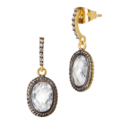 Pavé Raindrop Earrings - FREIDA ROTHMAN