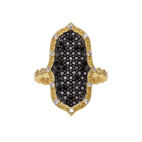 Black Pavé Pointe Ring - FREIDA ROTHMAN