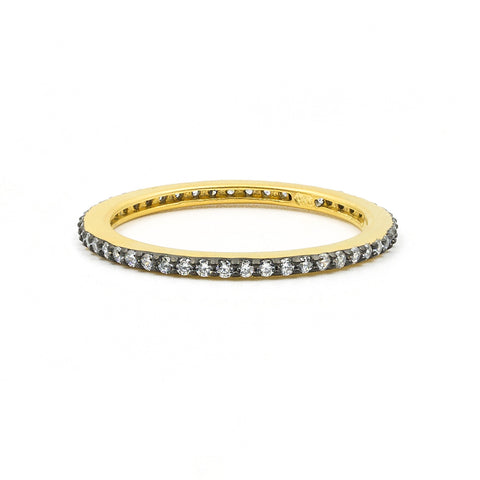 All Pav̩ Stack Ring - FREIDA ROTHMAN
