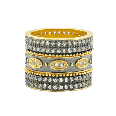 Signature Eternity 3-Stack Ring - FREIDA ROTHMAN