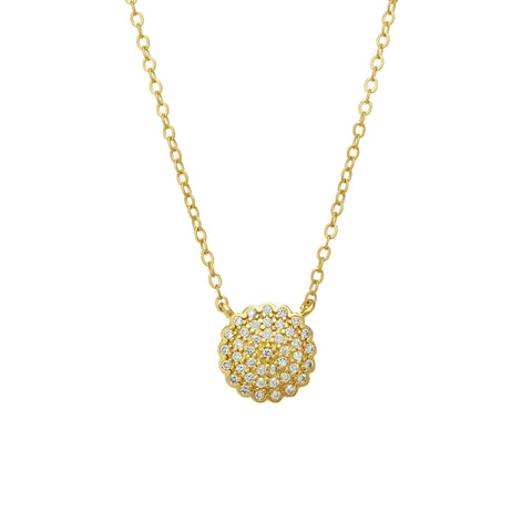 Small Pavé Disc Necklace - FREIDA ROTHMAN