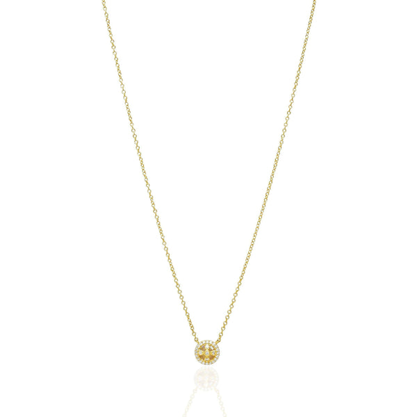 Clover Cage Pendant Necklace in 14K Gold