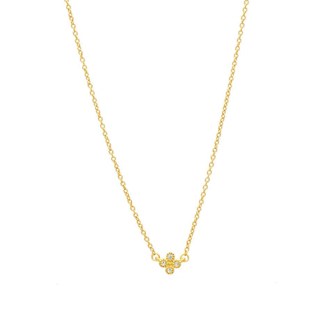 Mini Clover Pendant Necklace - FREIDA ROTHMAN