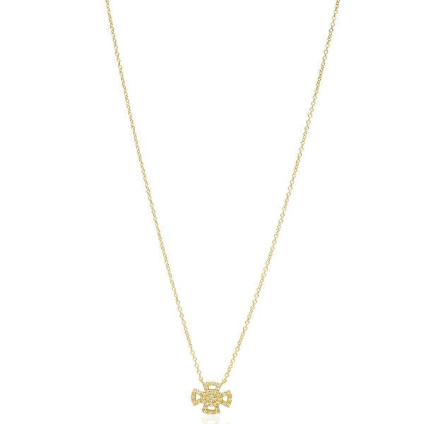 Open Maltese Pav̩ Pendant Necklace - FREIDA ROTHMAN