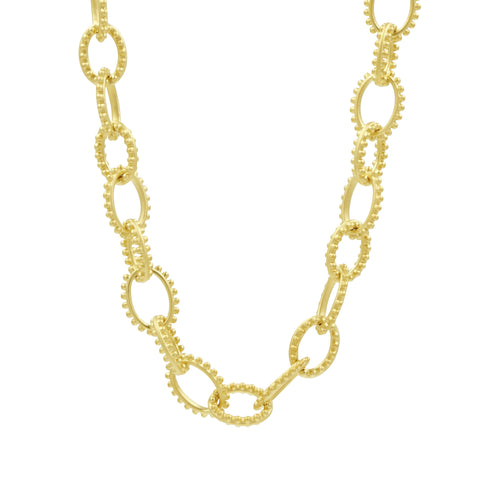 Textured Heavy Link Toggle Necklace