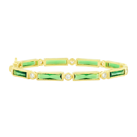 Baguette Bar Hinge Bangle