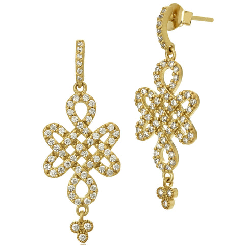 Small Love Knot Drops Earrings - FREIDA ROTHMAN