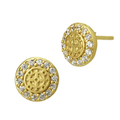 Small Logo Studs Earrings - FREIDA ROTHMAN